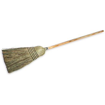 """4135067 - 5-Stitch Warehouse/Janitor (#29) - Blended Corn Broom 56"""" - Natural"""