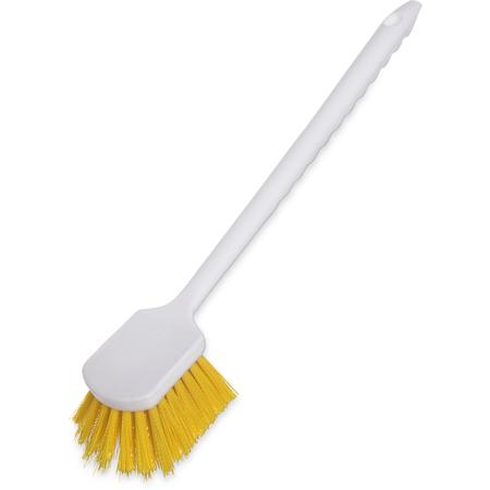 """4050104 - Sparta® Utility Scrub Brush with Polyester Bristles 20"""" x 3"""" - Yellow"""