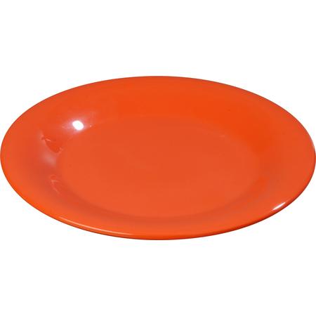 "3301052 - Sierrus™ Melamine Wide Rim Dinner Plate 10.5"" - Sunset Orange"