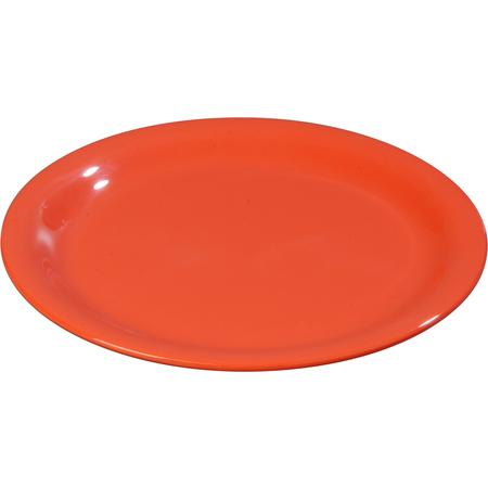 """3300652 - Sierrus™ Melamine Narrow Rim Salad Plate 7.25"""" - Sunset Orange"""