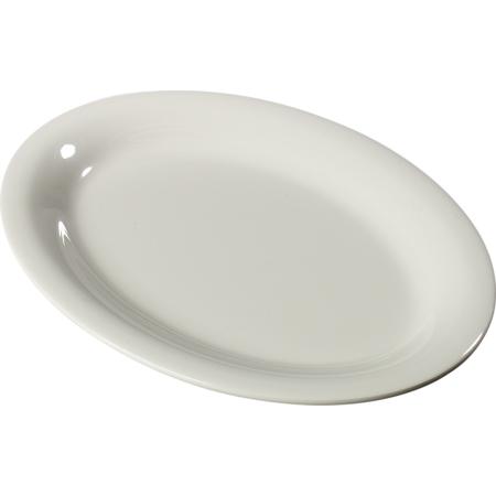 """3308242 - Sierrus™ Melamine Oval Platter Tray 12"""" x 9"""" - Bone"""
