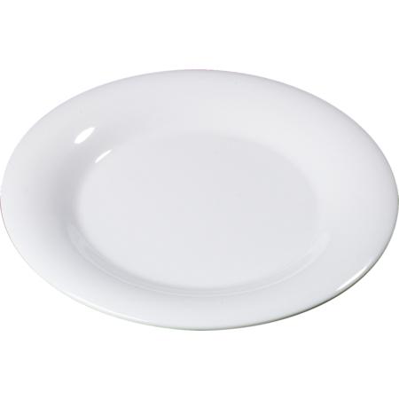 "3301002 - Sierrus™ Melamine Wide Rim Dinner Plate 10.5"" - White"
