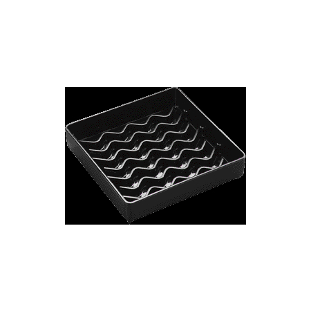 "1102003 - NeWave™ Square Drip Tray 4"" - Black"
