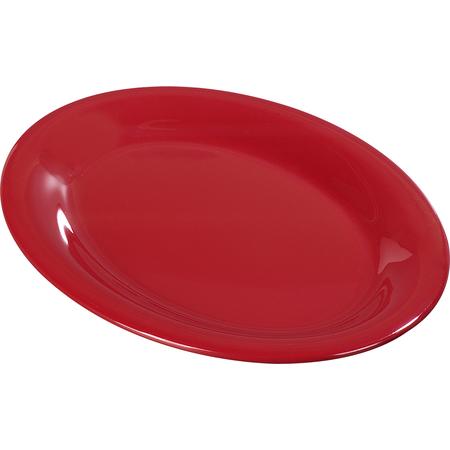 "3308205 - Sierrus™ Melamine Oval Platter Tray 12"" x 9"" - Red"