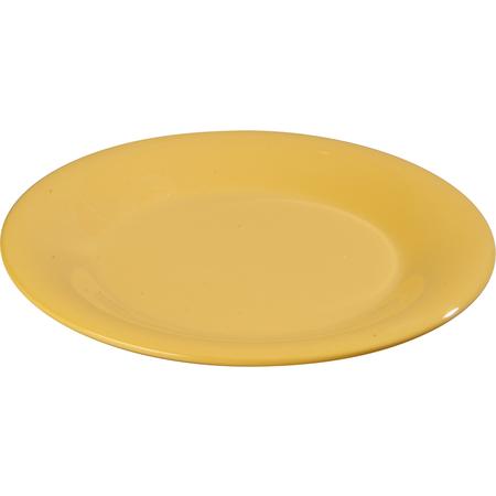 "3301622 - Sierrus™ Melamine Wide Rim Salad Plat 7.5"" - Honey Yellow"