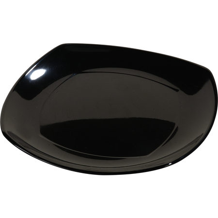 "4330603 - Melamine Upturned Corner Medium Square Plate 9.5"" - Black"