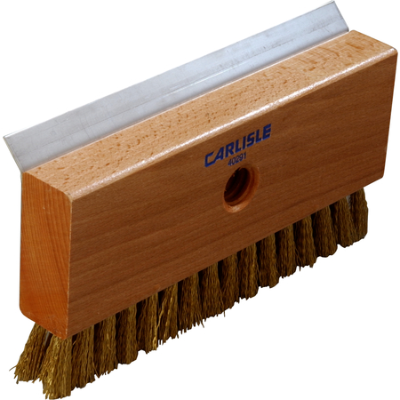 4029100 - Oven Brush & Scraper w/Brass Wire Bristles (head only) 8-1/2""