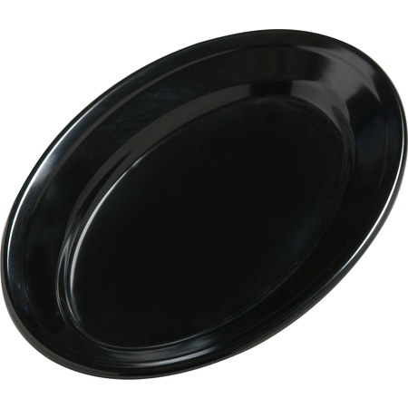 """4387203 - Dayton™ Melamine Oval Platter Tray 9.25"""" x 6.25"""" - Black"""