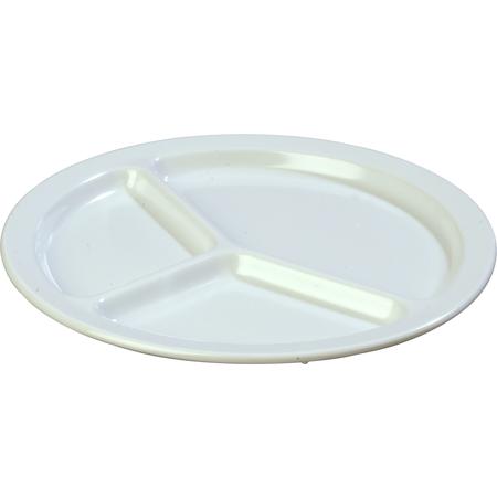 "KL10202 - Kingline™ Melamine 3-Compartment Plate 10"" - White"