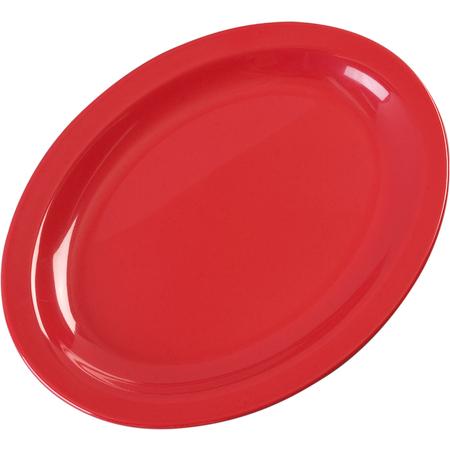 "KL12705 - Kingline™ Melamine Oval Platter Tray 12"" x 9"" - Red"
