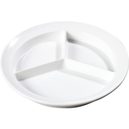 KL20302 - Kingline™ Melamine 3-Compartment Deep Plate 8.75 - White