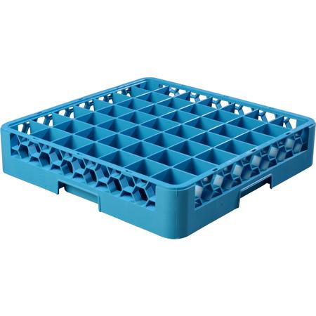 "RG4914 - OptiClean™ 49 Compartment Glass Rack 4"" - Carlisle Blue"