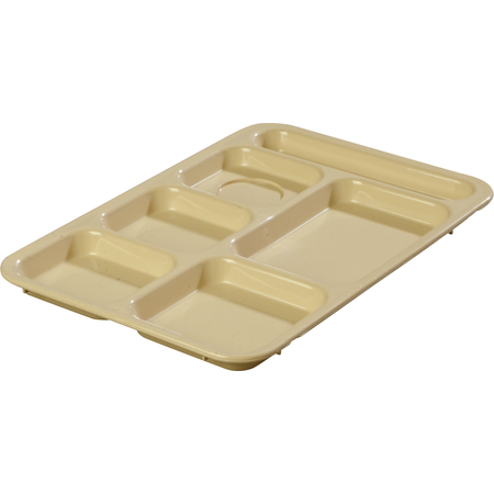 "P614R25 - Right-Hand 6-Compartment Tray 14"" X 10"" - Tan"