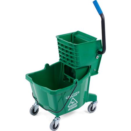 3690809 - Mop Bucket with Side Press Wringer 26 Quart - Green