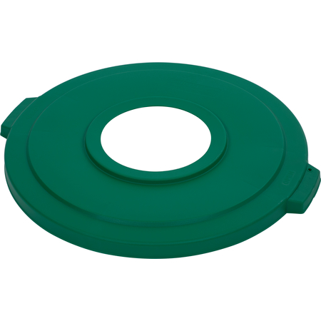 "341033REC09 - Bronco™ Round Recycle Lid with 8"" Receptacle 32 Gallon - Recycle - Green"