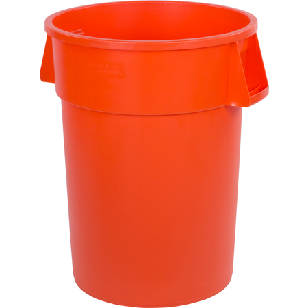 34104424 - Bronco™ Round Waste Bin Trash Container 44 Gallon - Orange