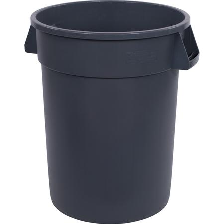 34103223 - Bronco™ Round Waste Bin Trash Container 32 Gallon - Gray