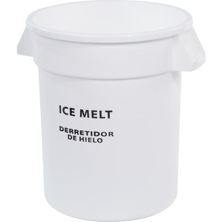 341010IMB02 - Bronco™ Round ICE MELT Container 10 Gallon - Ice Melt - White