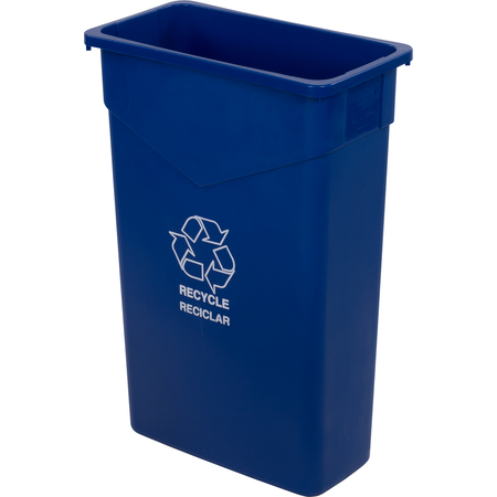 342023REC14 - TrimLine™ Rectangle RECYCLE Waste Container 23 Gallon - Blue