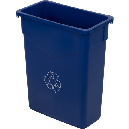 342015REC14 - TrimLine™ Rectangle RECYCLE Waste Container 15 Gallon - Blue