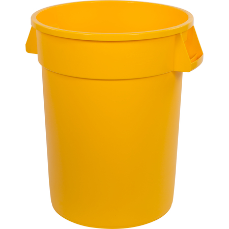 34103204 - Bronco™ Round Waste Bin Trash Container 32 Gallon - Yellow