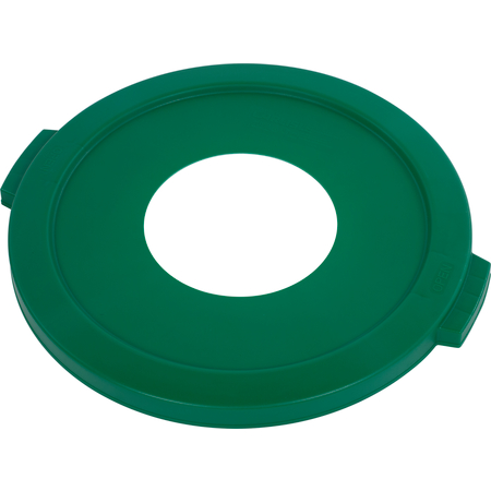 """341021REC09 - Bronco™ Round Recycle Lid with 8"""" Receptacle 20 Gallon - Recycle - Green"""