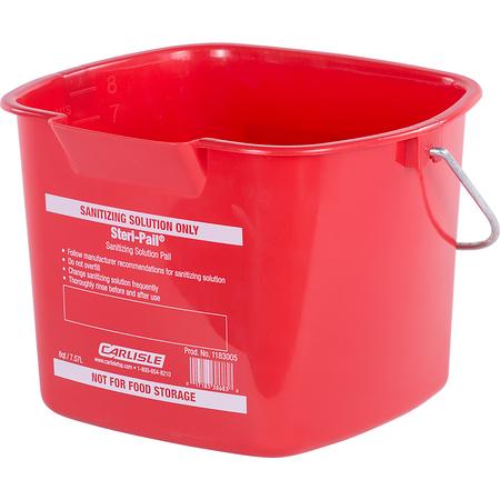 1183005 - Square Steri Pail® 8 qt - Red