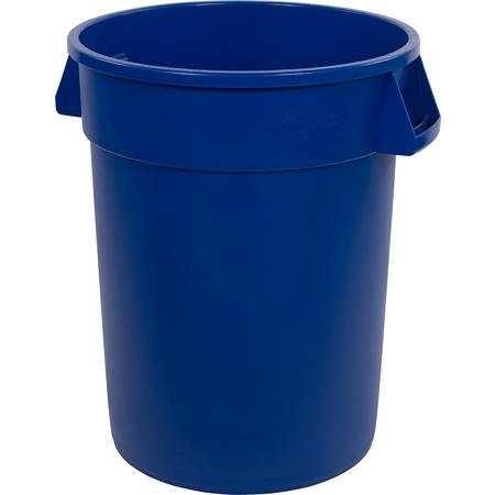 34103214 - Bronco™ Round Waste Bin Trash Container 32 Gallon - Blue