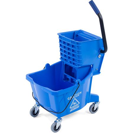 3690814 - Mop Bucket with Side Press Wringer 26 Quart - Blue