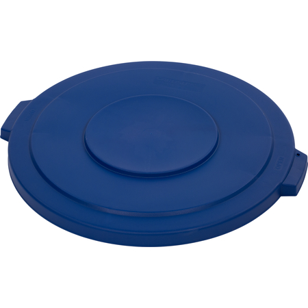 34103314 - Bronco™ Round Waste Bin Trash Container Lid 32 Gallon - Blue
