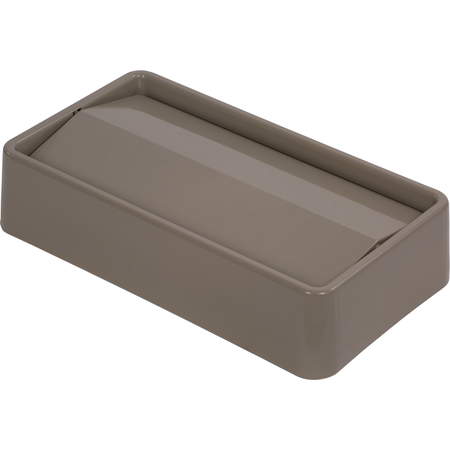 34202406 - TrimLine™ Rectangle Waste Container Trash Can Lid with Swing Top 15 and 23 Gallon - Beige
