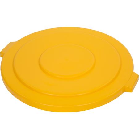 34105604 - Bronco™ Round Waste Bin Trash Container Lid 55 Gallon - Yellow