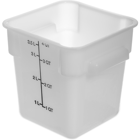 1073102 - StorPlus™ Polyethylene Square Food Storage Container 4 qt - White