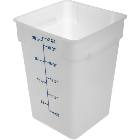 1073602 - StorPlus™ Polyethylene Square Food Square Container 22 qt - White