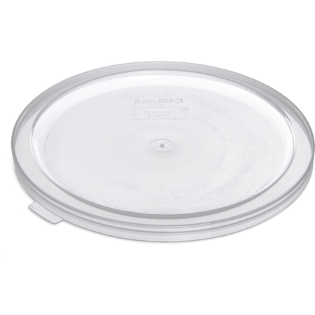"125230 - Bains Marie Food Storage Container Lid 12-3/4"" D/ 3/4"" - Translucent"