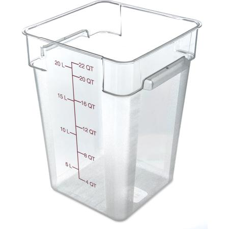 10726AF07 - StorPlus™ Polycarbonate Square Food Square Container 22 qt - Purple