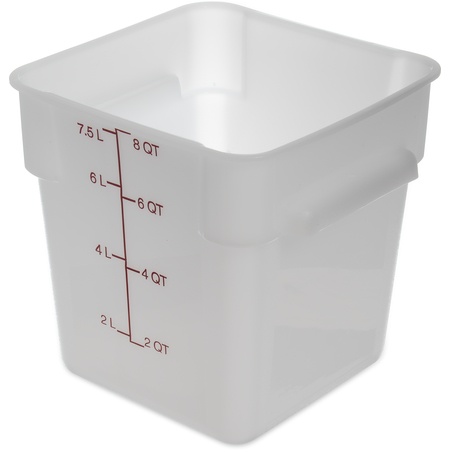 1073302 - StorPlus™ Polyethylene Square Food Storage Container 8 qt - White