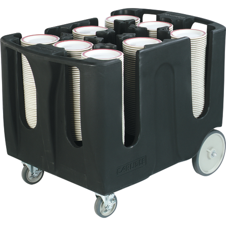 """ADD603 - Optimizer™ Dish Dolly with 6 Dividers 19"""" - Black"""