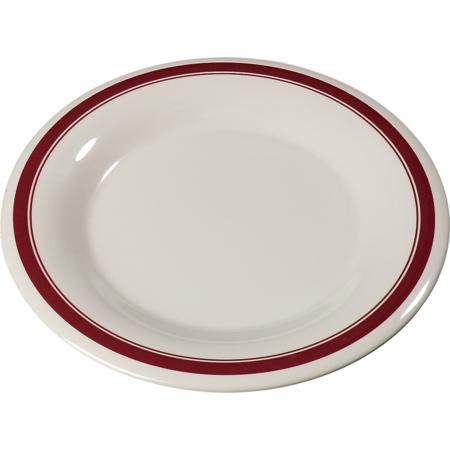 "43013907 - Durus® Melamine Wide Rim Dinner Plate 9"" - Roma on Bone"