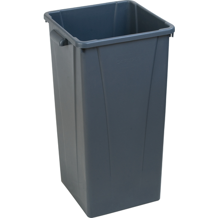34352323 - Centurian™ Square Tall Waste Container Trash Can 23 Gallon - Gray