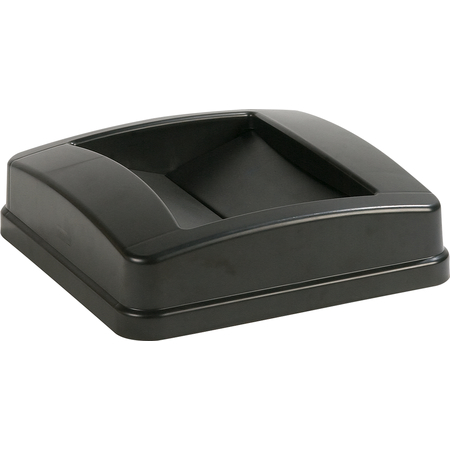 34352503 - Centurian™ Square Swing Top Waste Container Trash Can Lid 23 Gallon - Black
