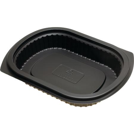 DXMW4016PBLK - Microwaveable Small Entrée Platter 16oz. (250cs/cs) - Black