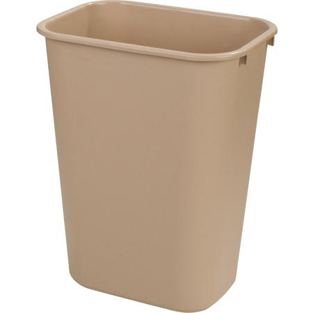34294106 - Rectangle Office Wastebasket Trash Can 41 Quart - Beige