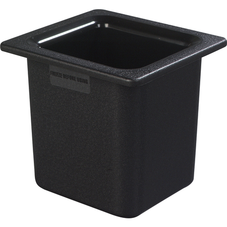 "CM110503 - Coldmaster® 6"" Deep High Capacity Sixth-size Food Pan 1.7 qt - Black"