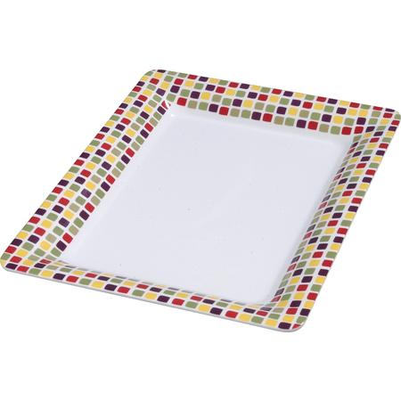 """44417918 - Rectangle Platter 17"""" x 13"""" - Mediterranean Tile"""