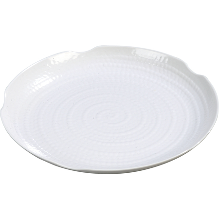 """4451402 - Terra™ Scalloped Textured Platter 14"""" - White"""