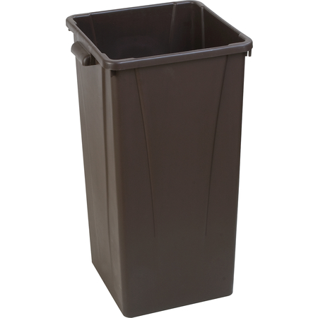 34352369 - Centurian™ Square Tall Waste Container Trash Can 23 Gallon - Brown