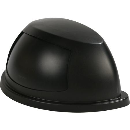34302203 - Centurian™ Half Round Waste Container Lid with Swing Door 21 Gallon - Black