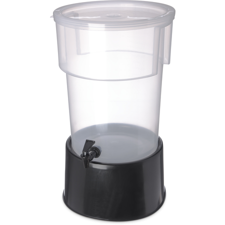222903 - Round Dispenser w/Base 5 gal - Black
