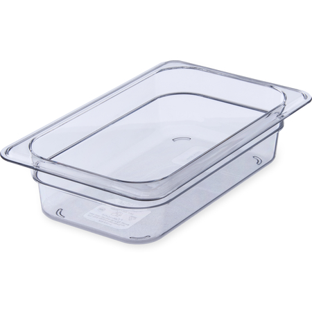 "3068007 - StorPlus™ Food Pan PC 2.5"" DP 1/4 Size - Clear"